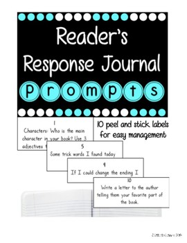 Editable Reader's Response Journal Prompts