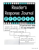 Editable Reader's Response Journal Prompts