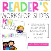Editable Reader's Workshop Slides   Distance Learning