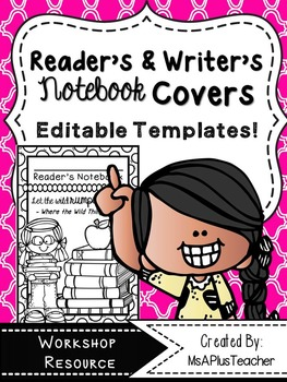 Editable Reader's & Writer's Notebook Covers