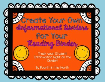 Editable Reading Binder Informational Dividers