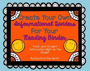 Editable Reading Binder Informational Dividers