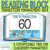 Editable Reading Block Transition Management Deck - A Clas