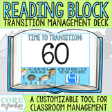 Editable Reading Block Transition Management Deck - A Classroom Management Tool
