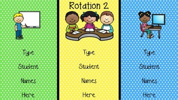 Editable Reading Center Rotations 108 Slides to Choose From