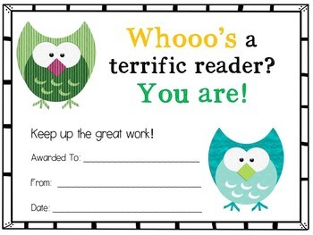 Editable Reading Certificates For The Whole Year!