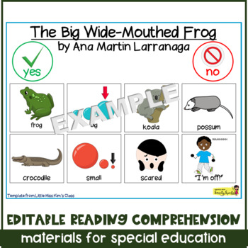 Editable Reading Comprehension Materials for Special Education