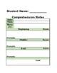 Editable Reading Comprehension Progress Monitoring Sheets