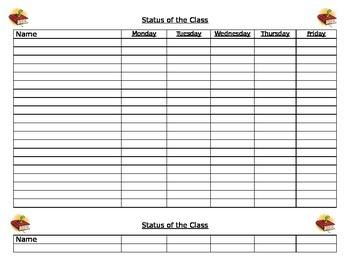 Editable Reading Conference Notes & Status of the Class Pages