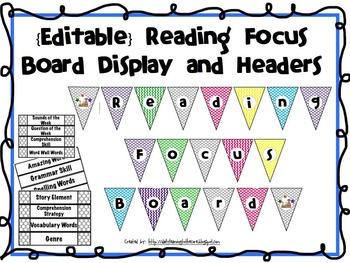 Focus Board {Editable}