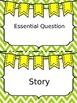 Editable Reading Headers Green Chevron Background
