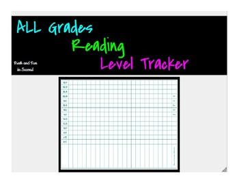 Editable Reading Level Tracker