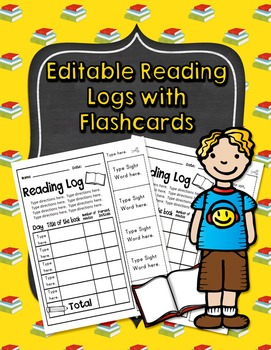 Editable Reading Logs with Flashcards