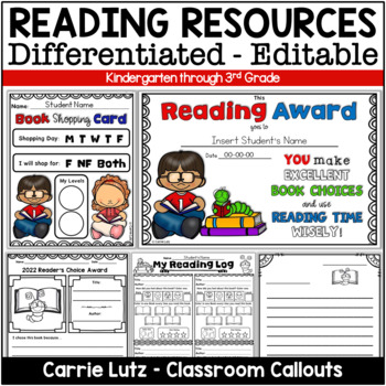 Editable Reading Resources K - 3