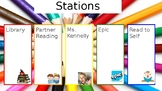Editable Reading Stations Powerpoint (Timer Embedded)