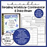 Editable Reading Workshop Conference Notes & Data Notebook / Binder