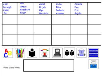 Editable Reading Workshop Rotations