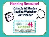 Editable Reading Workshop Unit Planner