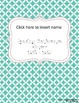 Editable Reading, Writing, & Math Conference Binder and Forms ~ Blue Diamond