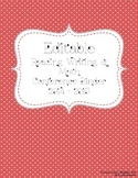 Editable Reading, Writing, & Math Conference Binder and Forms ~ Red & White Dots