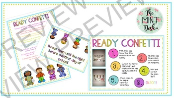 Editable Ready Confetti! Perfect for Back to School and Open House!!