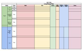 Editable- Ready to Use 2017-2018 Long Range Plan