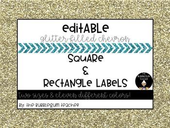 Editable Rectangle Labels