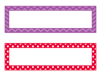 Editable Rectangle Name Plates, Tags, and Labels