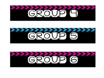 Editable Rectangular Labels Blue and Pink