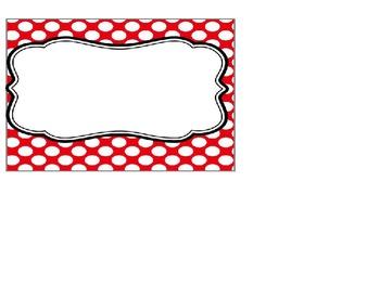 Editable Red Polka Dot Posters