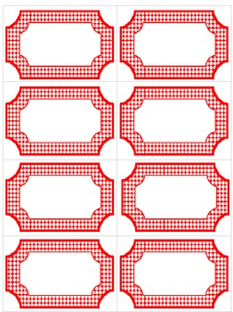 Editable Red & White Polka Dot Labels