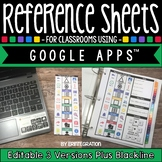 Editable Reference Sheets for Classrooms Using Google Apps