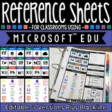 Editable Reference Sheets for Classrooms Using Microsoft