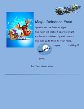 Reindeer Food Poem
