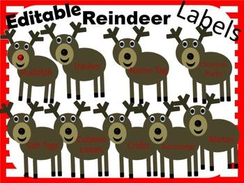 Editable Reindeer Labels