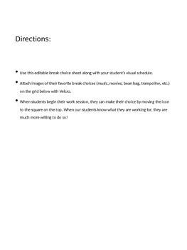 Editable Reinforcement Chart