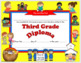 Editable Religious, Christian Diplomas for Grade 1-6, Elementary School