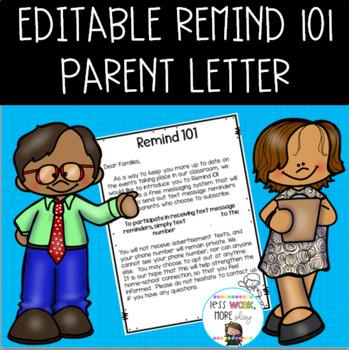 editable remind 101 parent letter
