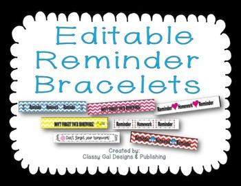 Editable Reminder Bracelets