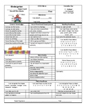 Editable Report Card for Kindergarten or Pre-K