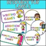Editable Resource Labels