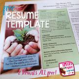 Editable Resume Template - Grow