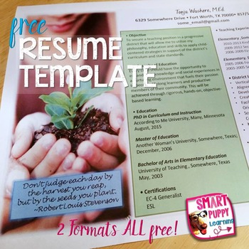 Editable Resume Template - Grow