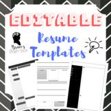 Editable Resume Templates