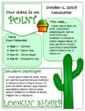 Editable, Reusable Classroom Newsletter Template Cactus Edition