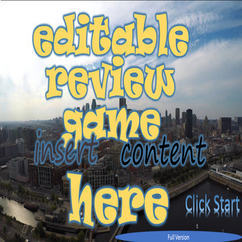 Editable Review Game for Any Subject