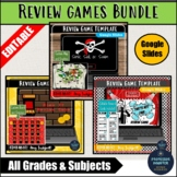 Editable Review Games Bundle Google Slides For Any Subject