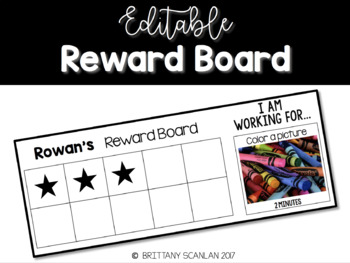 Editable Reward Board / behavior management / classroom management