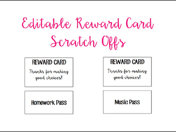 Editable Reward Card Scratch Offs