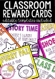 Editable Reward Cards